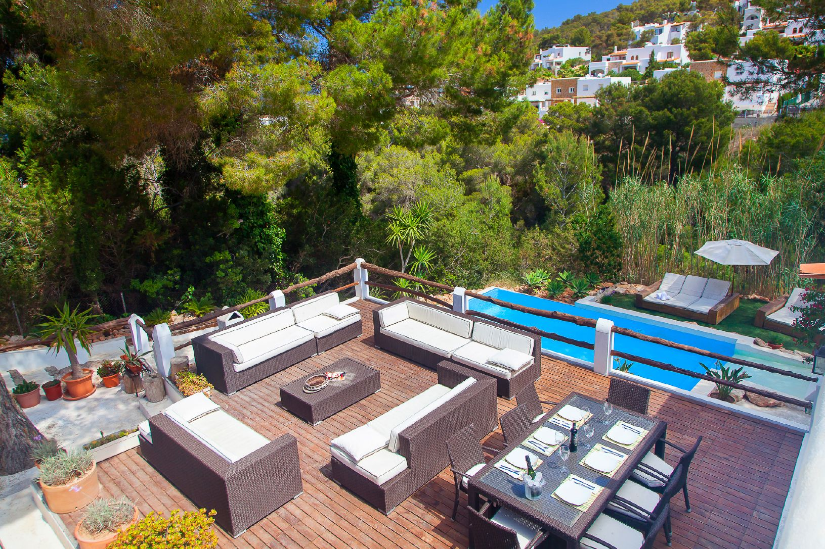 terrace with views in ibiza